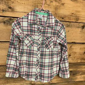 Carter's Pink and Green Plaid Shirt Size 4